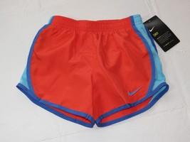 54453179 Nike Dri Fit 5 S Youth girls active Running shorts 327358-N22 Max Orange NWT