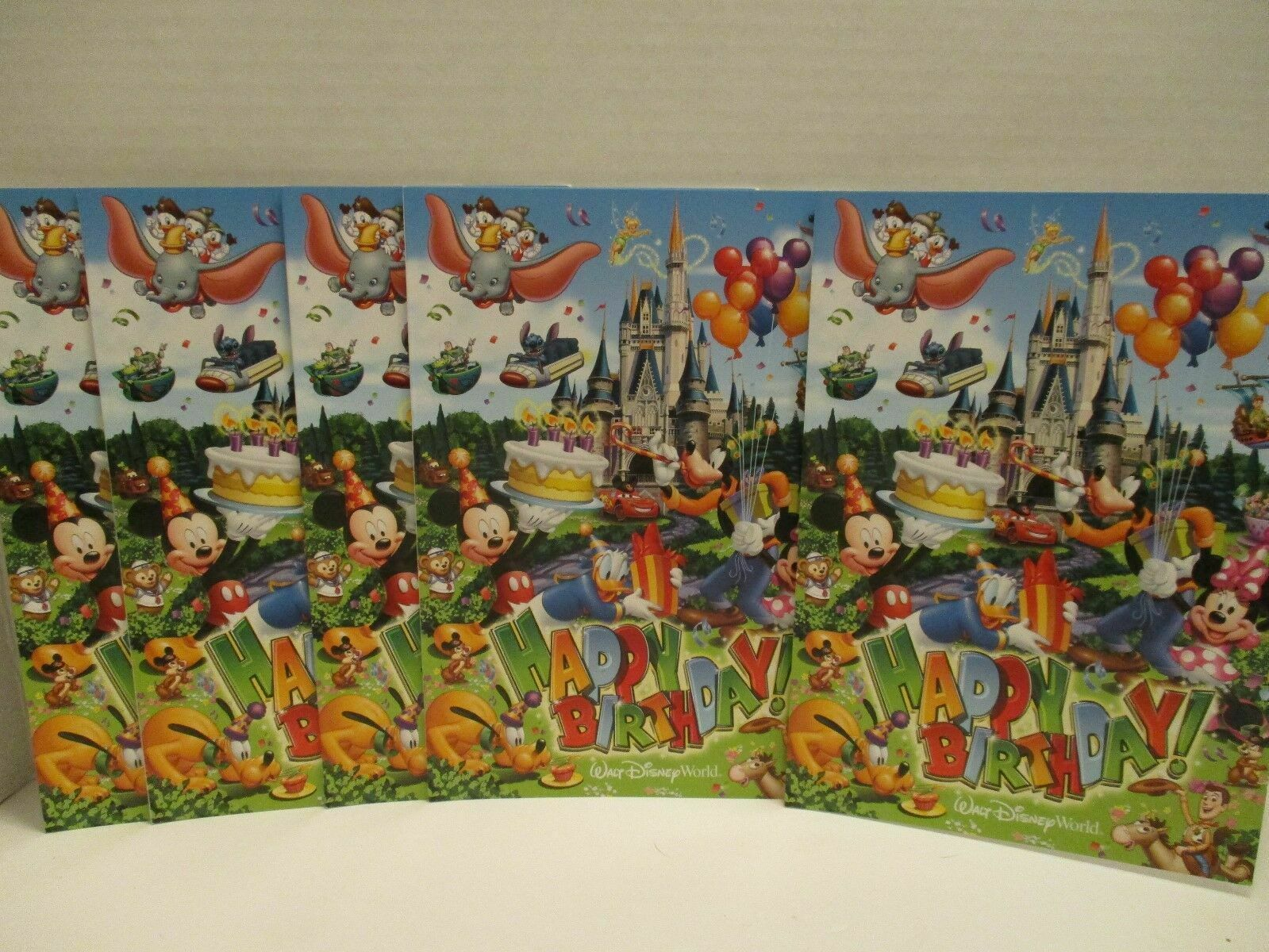 Walt Disney World Magic Kingdom Birthday Card Castle Lot of 5 Mickey Blank New - $9.89