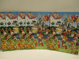 Walt Disney World Magic Kingdom Birthday Card Castle Lot of 5 Mickey Bla... - $9.89