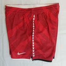 Lacrosse Youth Medium Team Shorts Red/White Dri-Fit E 120 - $11.69