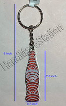 Coke Coca-Cola Shiny red China Flag Bottle Keychain