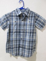 NWT Gap Kids Boys Blue Plaid Button Down Shirt XS 4-5 - $9.99