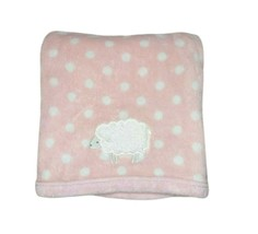 Just One You Carter's Pink White Polka Dot LAMB Baby Girl Blanket Lovey ... - $19.35