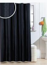 DIAMANTE NEGRO DE LUJO Cortina de ducha 180cm x 180cm con 12 sin ganchos - $33.38