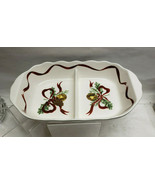 NOBLE EXCELLENCE China - HOLLY BELLS Pattern - DIVIDED SERVING BOWL - $84.95