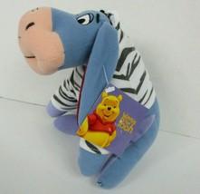 Disney Winnie the Pooh Eeyore Plush Zebra Jacket Applause 7 Inch New w Tags - $16.82