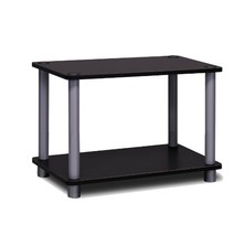 Furinno 11250BK/GY 2-Tier Turn-n-Tube Shelf, Black/Grey - $26.83