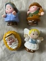 Fisher Price Little People Baby Jesus Engel Mary Joseph Krippen- Ersatz - $9.85