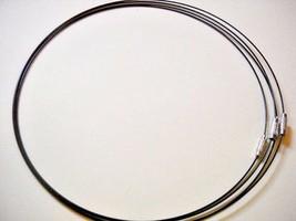 10 Black Neckwire Necklace Cords Screw Clasp Steel Choker 17 Inch Neck W... - $5.39