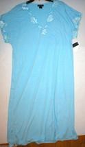 NWT New Designer Natori Night Gown Long Womens Light Blue XXL Lace Detai... - $123.50