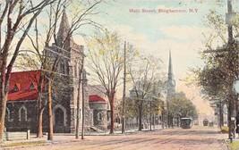 BINGHAMTON NY~MAIN STREET~WALTER R MILLER PUBLISHED POSTCARD 1912 - $5.82