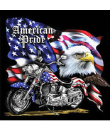 American Pride MotorCycle Cross Stitch Pattern***LOOK*** - $4.95