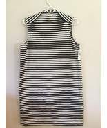 KATE SPADE NWT STRIPE EVERYDAY SHIFT DRESS SIZE M BLACK STRIPE BROOME ST - $80.00