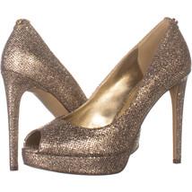 Michael Kors 1456 Peep-toe Pumps, Gold Glitter 068, Gold Glitter, 6 US - £40.60 GBP