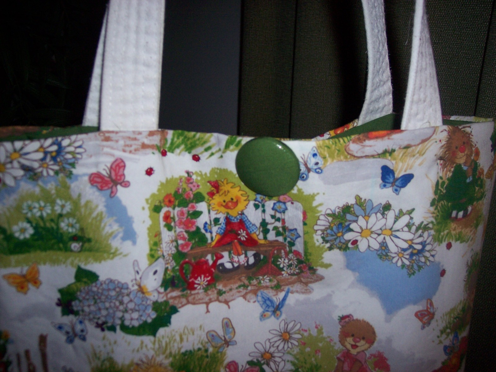 Suzy's Zoo Tote Bag Shopper Cute Spring Scene Handmade Christmas Gift!