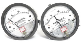 LOT OF 2 DWYER 12-166982-00 PRESSURE GAUGES X 1000 CFM, 1216698200