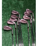 Taylormade SuperSteel Burner 3, 4, 5, 6, 7, 8, 9, P Iron Set Stiff Steel... - $149.99