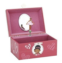 JewelKeeper Girl's Musical Jewelry Storage Box with Dancing Ballerina, P... - $18.32