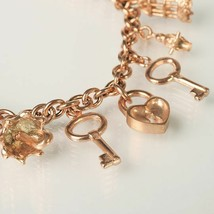 Silver Bracelet 925 Foil Gold with Pendants by Maria Ielpo Made in Italy image 2