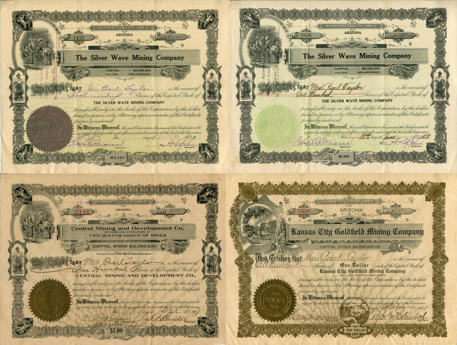 16 USA American Stock Share Certificate Oil Mining Pharmacy Company Collection  image 5