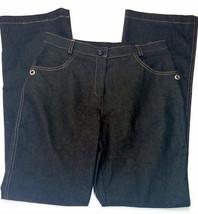 New Black Women jeans size 28 in L32 straight bootcut  elegant  - $63.80