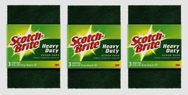 3pk~Scotch-Brite SCOUR PADS 3 ea. All-Purpose Heavy Duty Reusable Kitchen 223-10 - $15.99