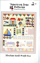 Playtime Quilt Month Five American Jane Quilt Pattern Leaflet with Fabri... - $6.27