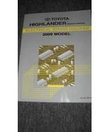 2009 Toyota Highlander Hybrid Electrical Wiring Diagram Manual OEM Factory 09 - $9.85
