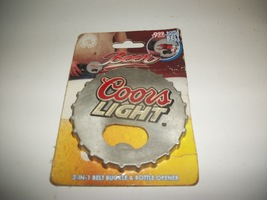 New! COORS LIGHT Bottle Opener and Belt Buckle - $8.29