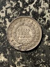 1871 Bolivia 5 Cents Lot#L9090 Silver! - $18.70