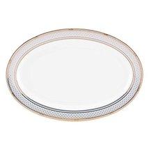 Lenox Gorham Chancellor Oval Platter, White/ Blue - $34.99
