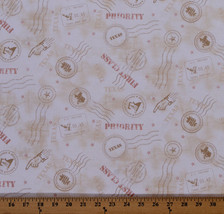 Quilt Across Texas U.S. Postage Symbols Mail Cotton Fabric Print by Yard... - $5.97