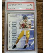 2000 SKYBOX IMPACT TOM BRADY ROOKIE CARD PATRIOTS BUCS GOAT PSA GEM MINT... - $2,999.99