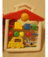 1991 Fisher-Price Learning ABC 123 Apple Butterfly Car Bell House School... - $16.82