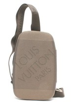 Auth Louis Vuitton Shoulder Bag Grey Fabric Logo Zipper Inner pocket LVB... - $693.00