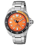 New Seiko SRPC07 Mens Automatic Prospex Samurai Divers Orange Dial Steel Watch - $287.08
