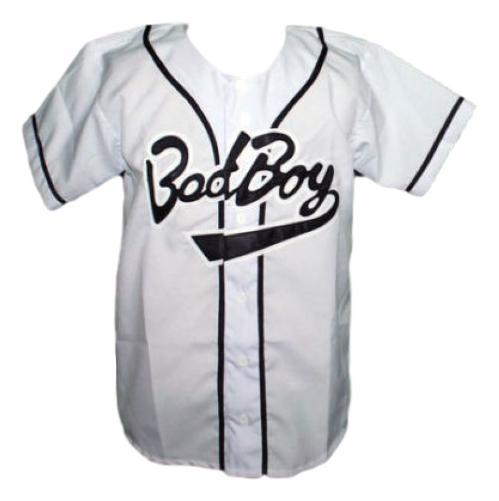 Biggie smalls  10 bad boy baseball jersey button down white   1