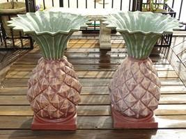 Set of 2 Cast Aluminum Pineapple Urn Planter Flower Pots Outdoor Large 2... - ₹16,744.72 INR