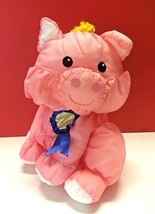 Vtg Fisher Price Barnyard Puffalump Pink Pig Piglet Farm Animal Plush To... - $39.99