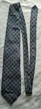 Structure Men's Neck Tie 100% Silk Blue Black Geometric Squares - $12.00