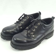 Casual Hiking Shoes Work Mens Size Leather 5 Alley 9 Cats Oxford Skechers Black WRqBYwT0