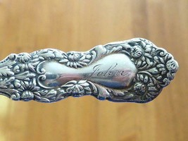 1901 Dec 25 Christmas JOHN Sterling Silver Souvenir Spoon IMPERIAL CHRYS... - $39.59