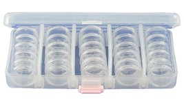 25-in-1 Bead Storage Case - 25 Stackable Containers in Reusable Carrying - $12.01