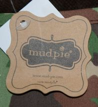 Mudpie HSZ 30514 Baby Green Brown Camo Hooded Towel 100 Precent Cotton image 3