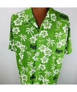 Tampa Bay Rays Medium Green Hawaiian Aloha Hibiscus Palm Trees Dri Fit S... - $39.59