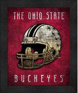 "Ohio State Buckeyes ""Retro College Logo Map"" 13x16 Framed Print  - $39.95"