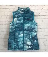 Patagonia Moontree Down Sweater Vest Girls Medium 10 Zip Front Deep Sea ... - $62.84