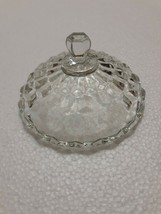 """Whitehall by Colony Clear Stacked Cube Design Candy Dish Compote Lid. About 5"""" - $23.36"""