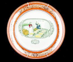 "Antique Adams ""Lorna Doone"" England Annie Learns To Churn Cream Wall Cab... - $26.09"