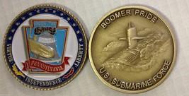 NAVY USS PENNSYLVANIA SSBN-735 SUBMARINE FORCE BOOMER PRIDE CHALLENGE COIN - $27.07